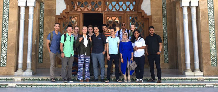 Arabic students with a study abroad program
