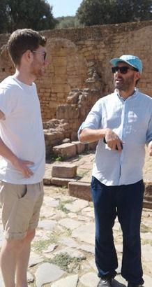 Arabic students visit sites in Rabat