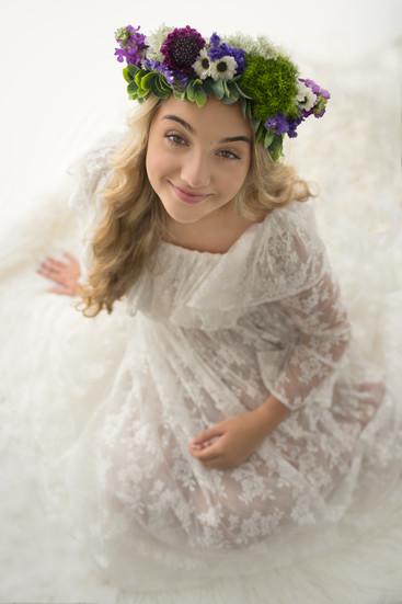 Teen in White Dress