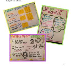 Mini Lesson Anchor Charts Writing