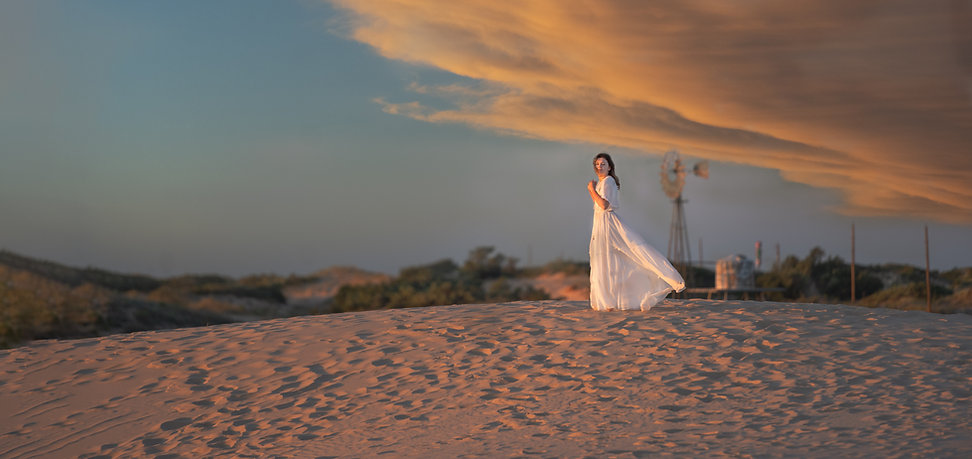 Lady in Sand