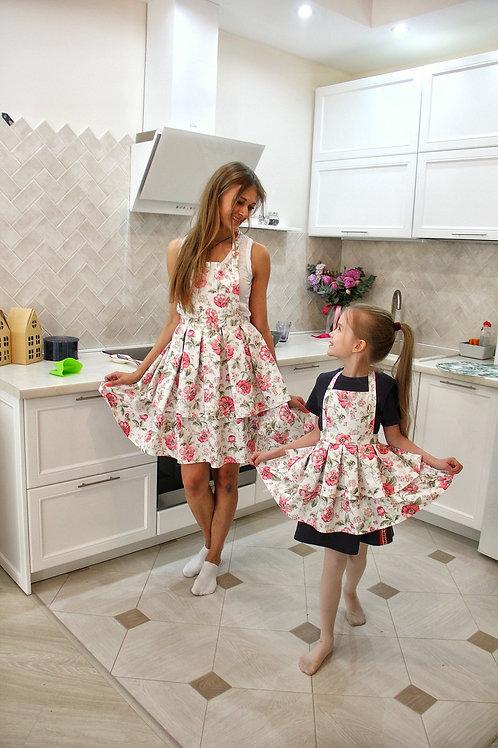 Комплект Фартук для мамы и дочки