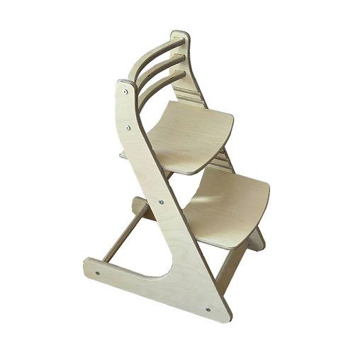 Растущий стул FUN Натуральный под покраску