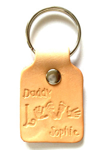 leather keyring for daddy