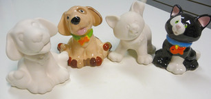 cat and dog figurines