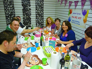 40th birthday pottery painting party
