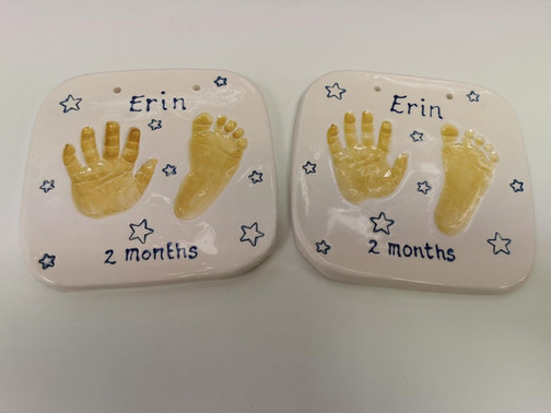 Clay baby print impressions