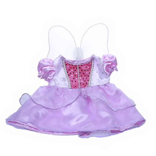 """Purple Cinderella Dress With Wings (8"""")"""