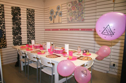 party table set up for hen party