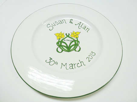 handpainted signature plate
