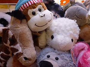 Build a bear skins, monkey, lamb, giraffe, hippo