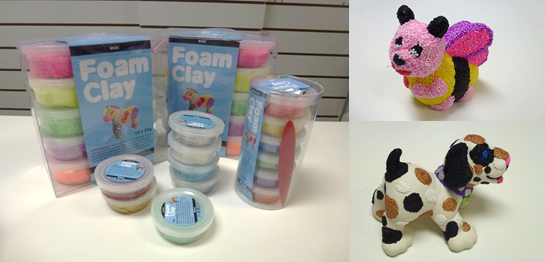 Selection of foam clay colours