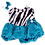 "Thumbnail: Turquoise Zebra Dress With Bow (8"")"