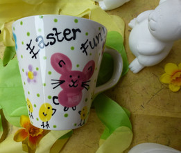 fingerprint painting on a mug