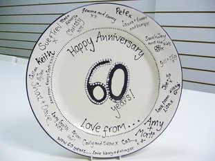 60th Anniverary signature plate
