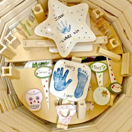 A selection of items in the kiln
