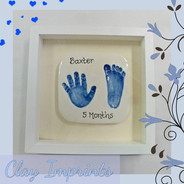 Baby prints in clay