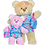 "Thumbnail: Blue Floral Tankini/Matching Bag (16"")"