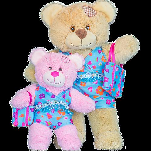 "Blue Floral Tankini/Matching Bag (16"")"