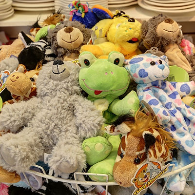 Basket full of Build a Bear animal skins