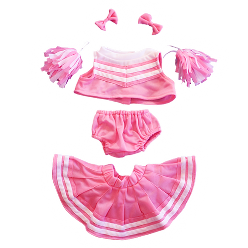 """Pink/White Cheerleader Outfit (8"""")"""