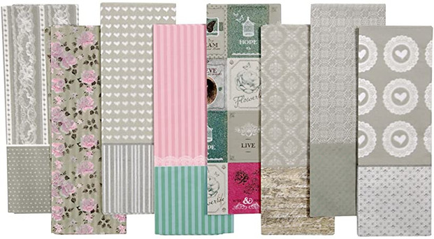 Range of decoupage papers pastels