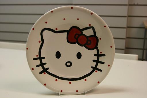 Hello Kitty plate
