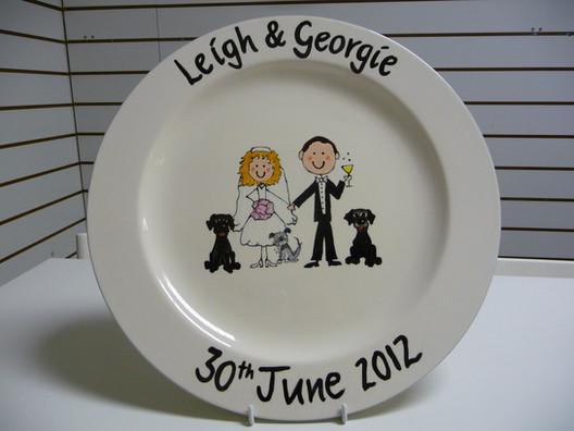 Personalised Wedding signature plate