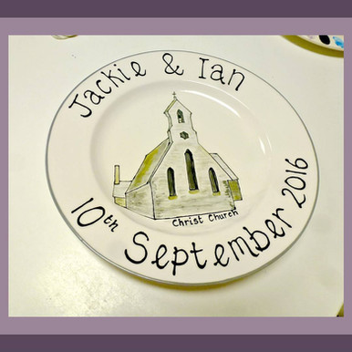 Wedding plate commission