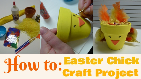 Easter chick craft project