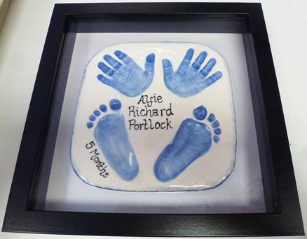 Framed clay imprints