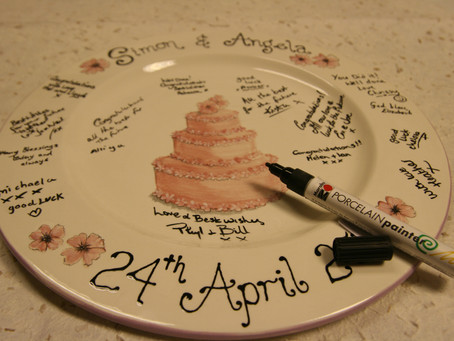 Personalised Signature Wedding Plate