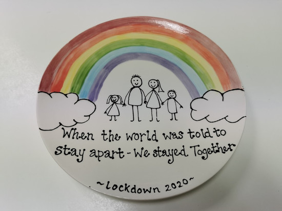 when the world was told to stay apart we stayed together plate lockdown 2020