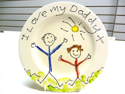 i love my daddy plate