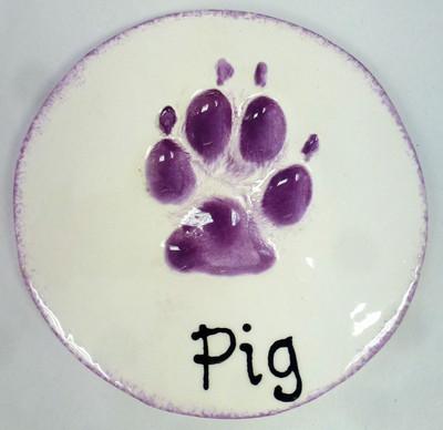 clay impression paw print