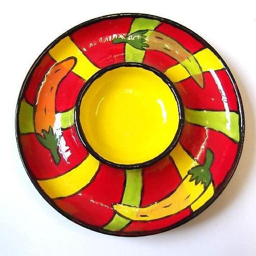 Party Chip n Dip Platter Bowl