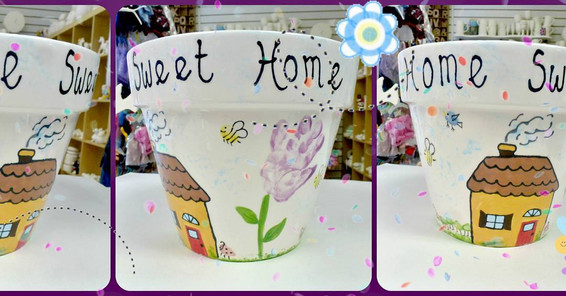 plant pot new home gift