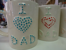 i love dad painted mugs