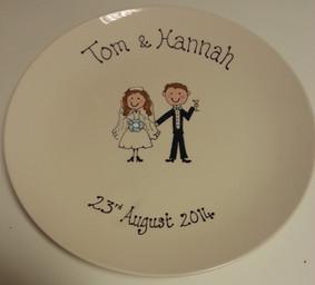 personalised signature wedding plate