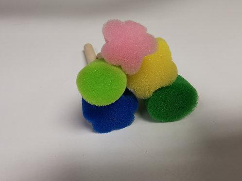 Set of Mini Sponge Dabbers - Spots & Flowers