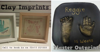 Clay imprint and plaster outprint examples