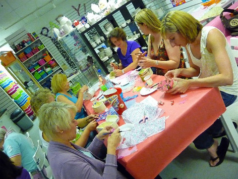 Ladies decoupage party