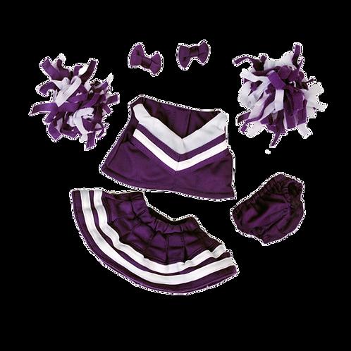 """Purple/White Cheerleader (8"""")"""