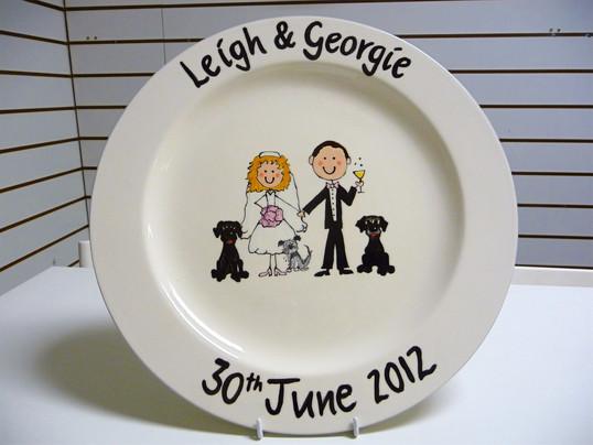 personalised wedding plate