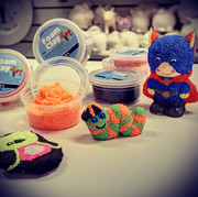Examples of foam clay items with tubs