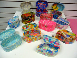 Decoupaged boxes