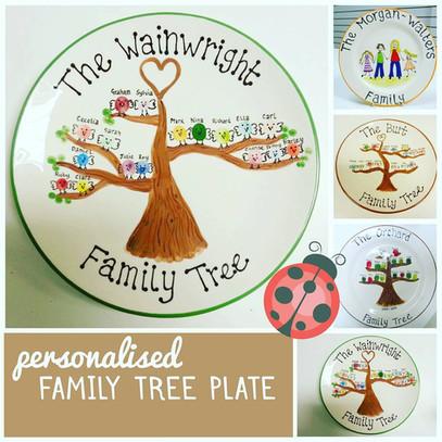 Family tree fingerprint plates