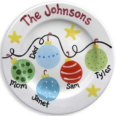 family bauble plate