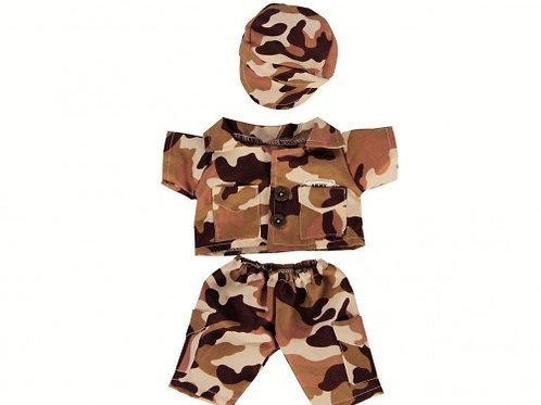 "Desert Army Bear Outfit (8"")"