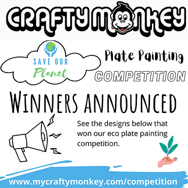 advert saying winners have been announced of our eco plate painting competition